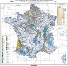 Carte au millionième du Quaternaire de la France métropolitaine